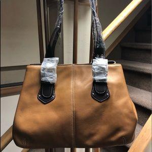 Tiganello shoulder bag tan and brown